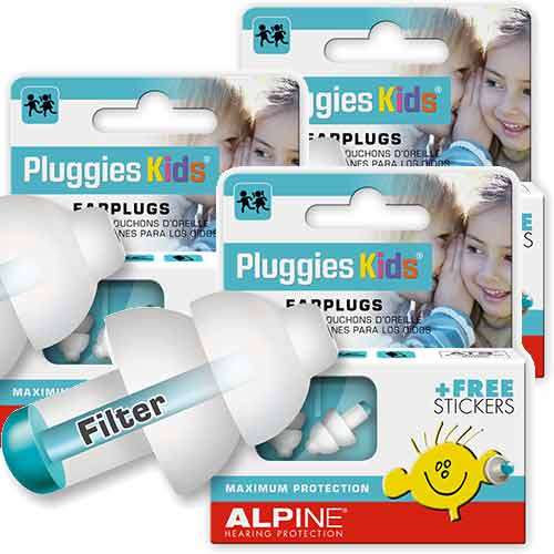 3 x  Alpine Pluggies Kids