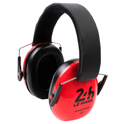 Acoufun 24H Le Mans casque anti bruit rouge